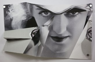 Claire Manning, 'Folded Bette Davis July 2014'